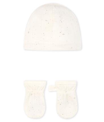 Set met muts en wanten voor baby's van tubic