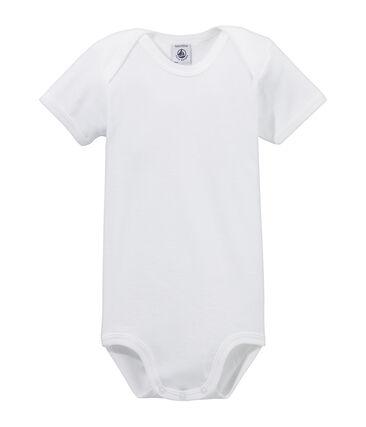 Rompertje met korte mouwen baby wit Ecume