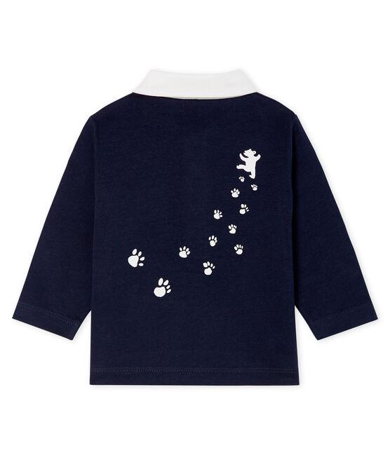 Polo met lange mouwen babyjongen blauw Smoking