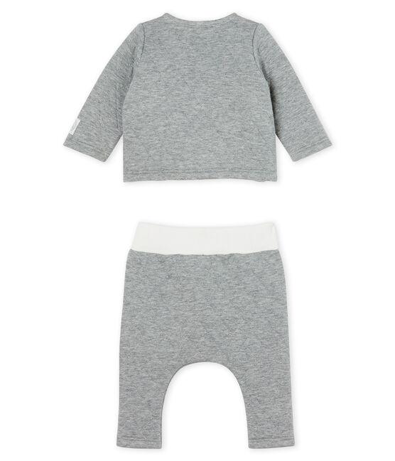 Set van 2 items voor baby's van gewatteerde tubic grijs Subway