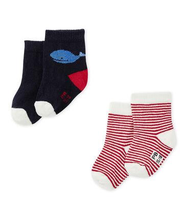 Set van 2 paar sokken voor babyjongens set .
