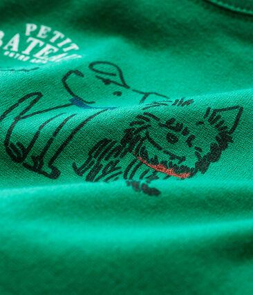 T-shirt met lange mouwen babyjongen groen Ecology