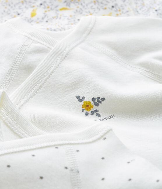 Drie rompertjes geboorte lange mouwen babymeisje set .