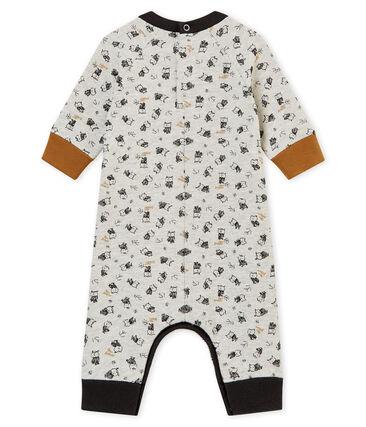 Lang pakje met dessin voor babyjongens grijs Beluga / wit Multico