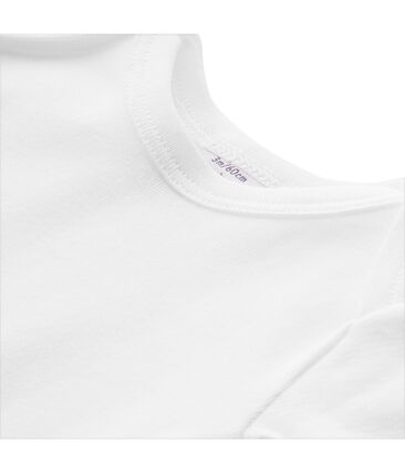 T-shirt bébé mixte uni blanc Ecume