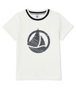 T-shirt met korte mouwen jongens wit Marshmallow