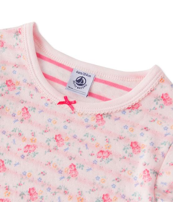 Omkeerbare meisjespyjama in tubic roze Vienne / roze Rose