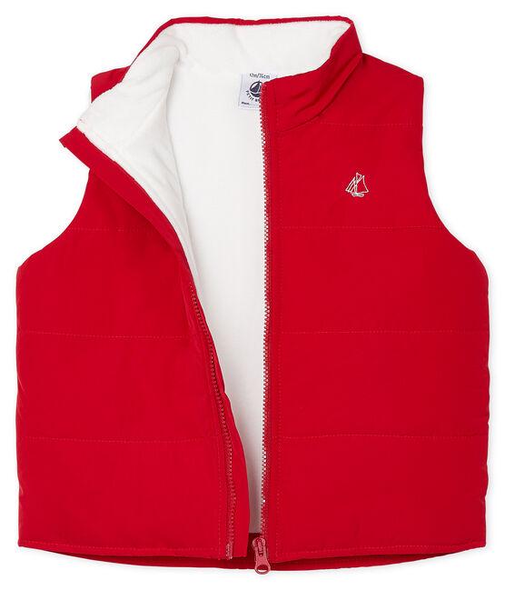 Mouwloze jas babyjongen rood Terkuit
