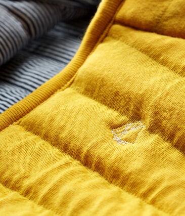 Mouwloos jasje van gewatteerde tubic voor baby's geel Boudor