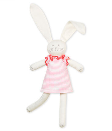 Aangeklede konijnenknuffel