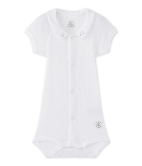 Body met kraagje voor babyjongens wit Ecume