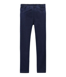 Slim jeans van stretch voor meisjes blauw Denim Bleu Fonce