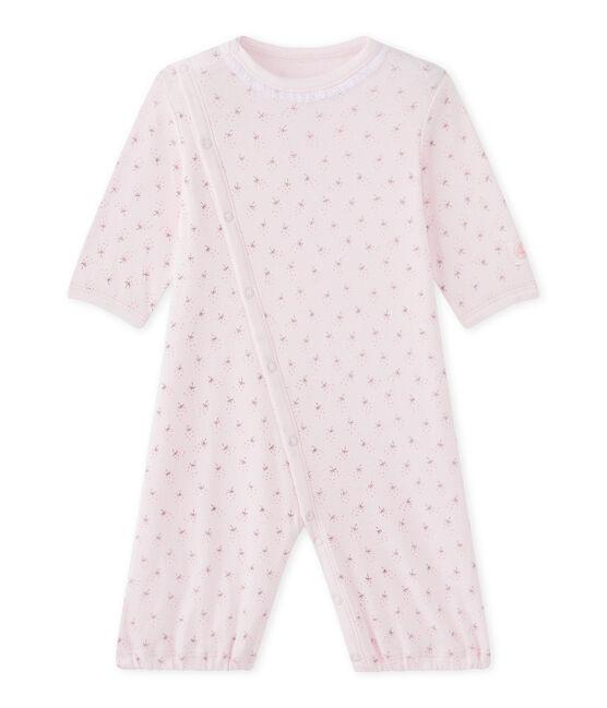 2-in-1 combizak voor babymeisjes roze Vienne / wit Multico