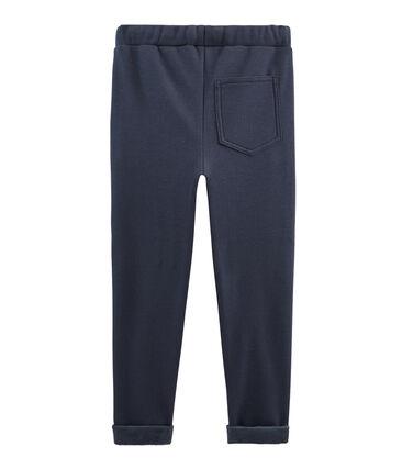 Warme molton broek jongens blauw Smoking