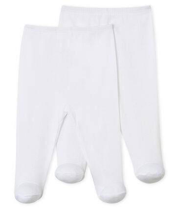 Set van 2 broeken met voetjes baby