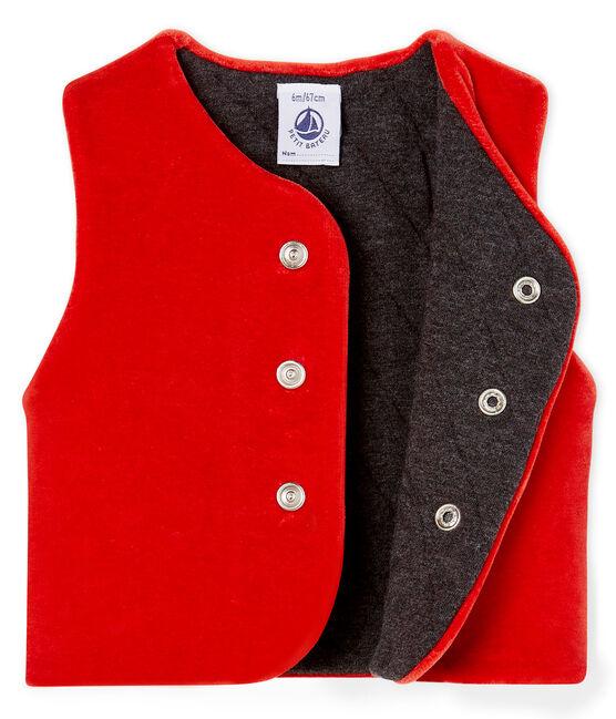 Mouwloos vest babyjongen rood Terkuit