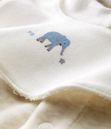 Uniseks pyjama met slabbetje van katoenvelours