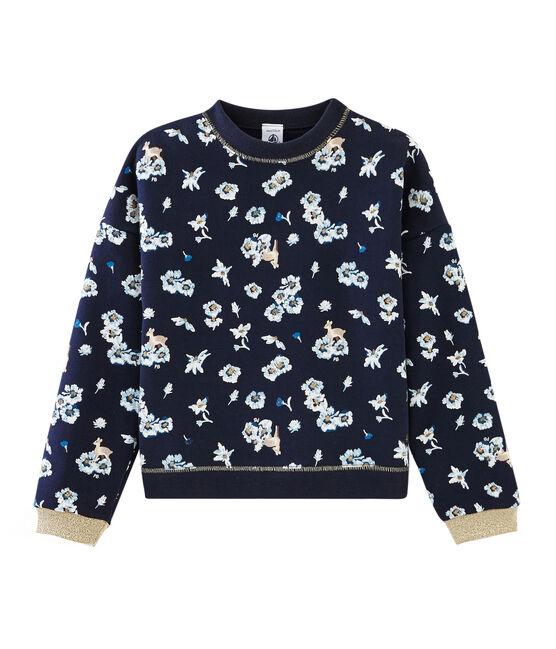 Sweatshirt meisjes blauw Smoking / wit Multico