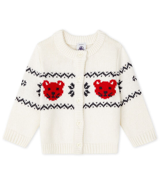 Cardigan voor baby's wit Marshmallow / wit Multico