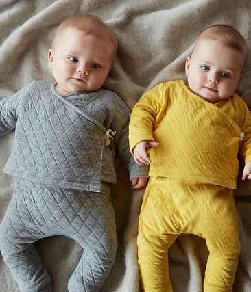 Ensemble deux pièces bébé en tubique matelassé gris Subway