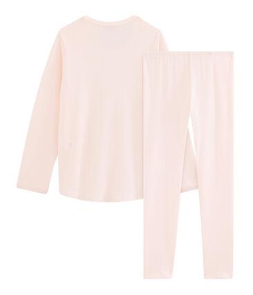Meisjespyjama van ribstof roze Fleur