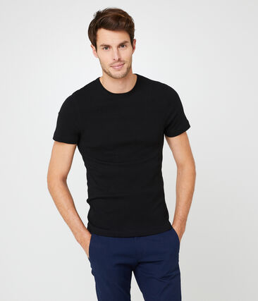 Heren-t-shirt met korte mouwen en ronde hals