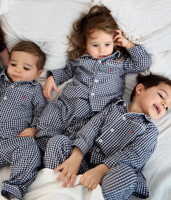 Jongenspyjama van twill blauw Medieval / wit Lait
