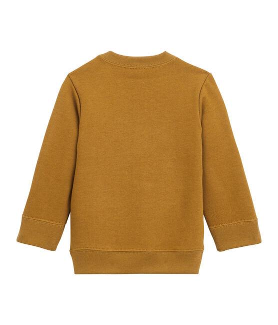 Sweatshirt van molton babyjongen bruin Cuivre