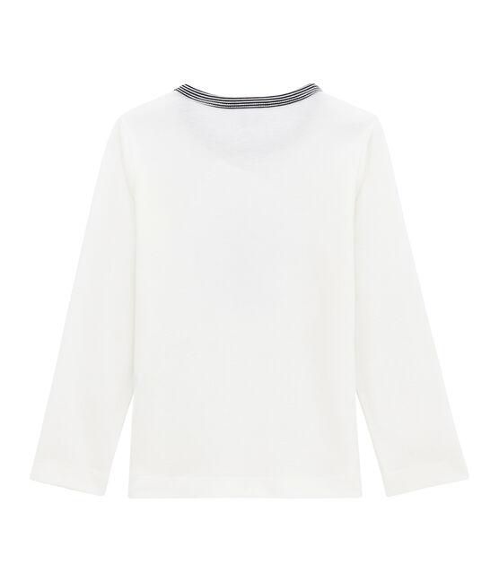 Jongens tee-shirtmet lange mouwen wit Marshmallow