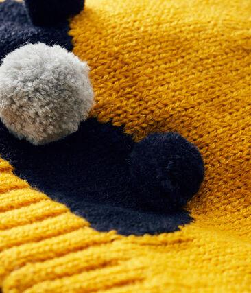 Jongensmuts met fleece voering geel Boudor
