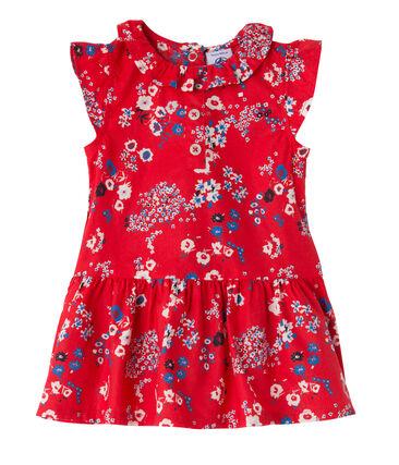 Robe bébé fille imprimée rouge Peps / blanc Multico