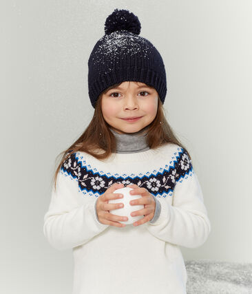 Pull enfant fille blanc Marshmallow / blanc Multico
