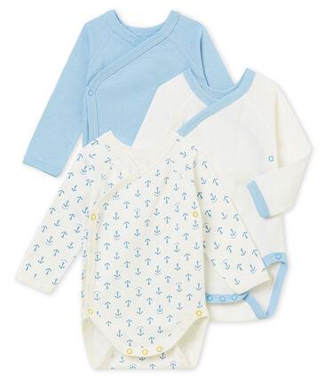 Set van 3 eerste body's met lange mouwen voor babyjongens