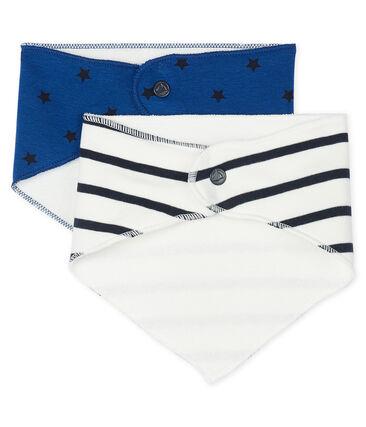 Set van 2 bandana-slabbetjes voor baby jongen set .