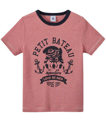 T-shirt garçon rayé milleraies
