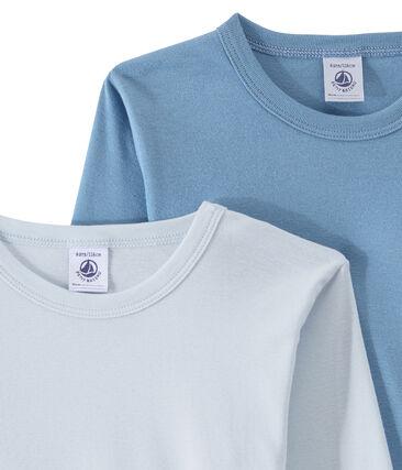 Lot de 2 t-shirts garçon manches longues unis