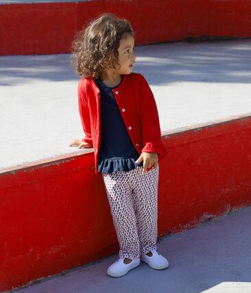 Cardigan in doorgestikte tubic voor babymeisjes