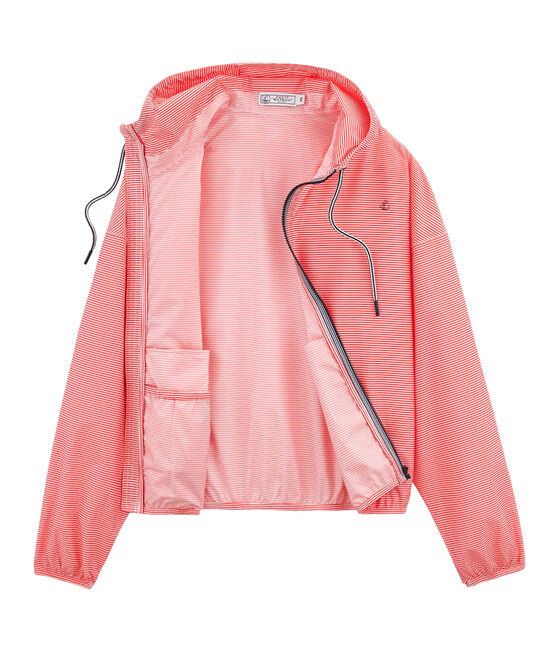 Uniseks korte windstopper roze Petal / blauw Crystal