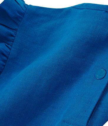 Blouse met korte mouwen van linnen