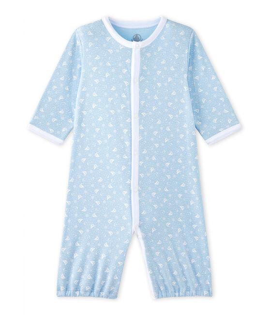 Combisac bébé mixte 2 en 1 bleu Toudou / blanc Ecume