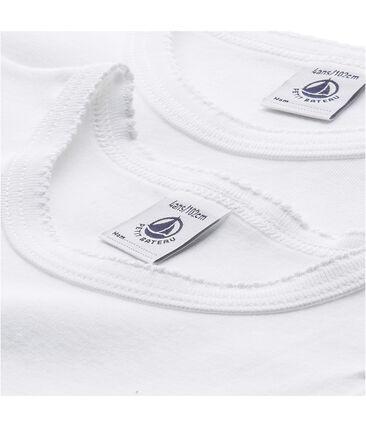 Set van 2 effen meisjes-T-shirts met gekartelde afwerking