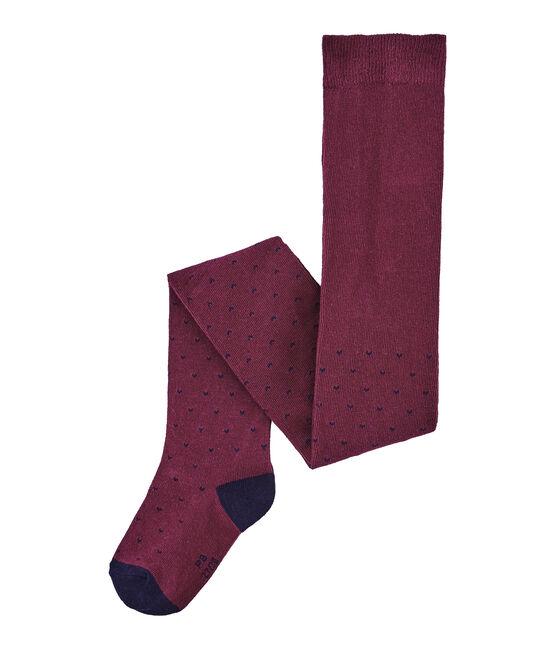 Meisjeskousenbroek in jersey rood Ogre / blauw Smoking