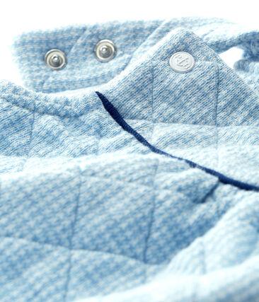 Korte salopette voor baby's van gewatteerde tubic blauw Acier / wit Marshmallow