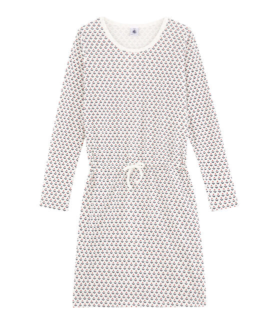 Meisjesnachthemd wit Marshmallow / wit Multico