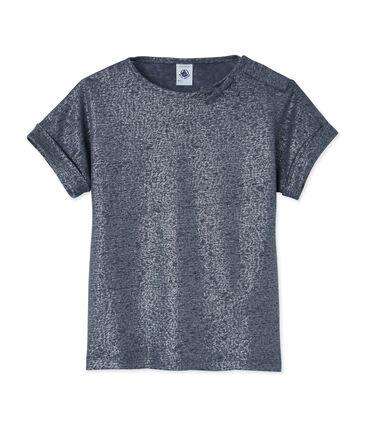 T-shirt voor meisjes grijs Maki / grijs Argent