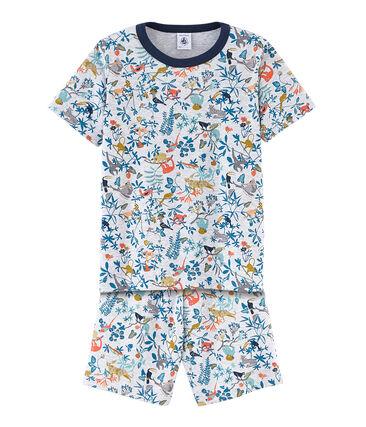 Korte jongenspyjama in ribkatoen
