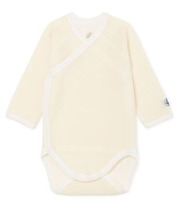 Rompertje voor een pasgeboren baby met lange mouwen in wol en katoen