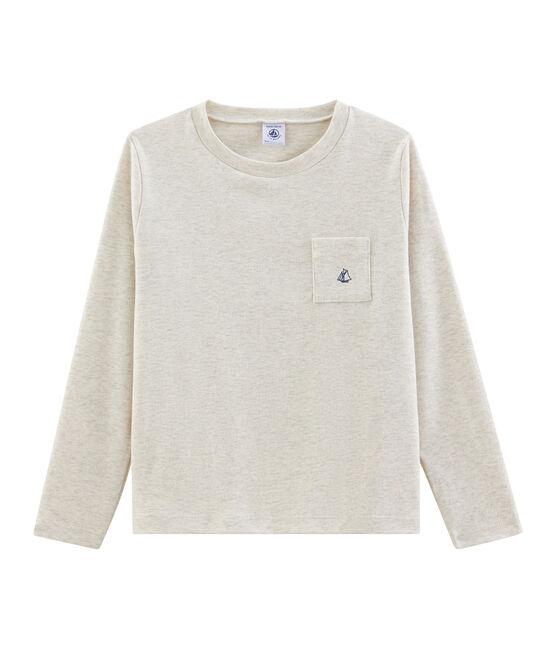 T-shirt met lange mouwen voor jongens grijs Montelimar Chine