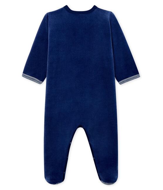 Dors bien bébé garçon en velours bleu Medieval