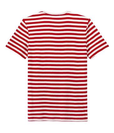 Heren-T-shirt met tweekleurige streepjes